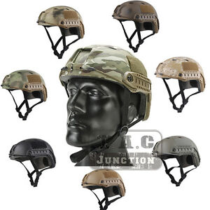Emerson Tactical Fast Helmet PJ Type Bump Jump Helmet w NVG Shroud + Side Rail