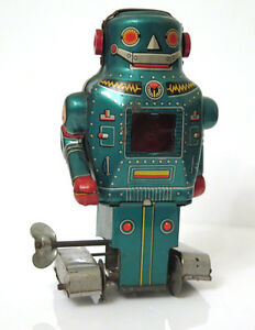vintage noguchi space mighty robot wind up