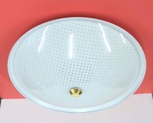 1965 NEW VINTAGE White CEILING Round BEDROOM 2-Light Fixture 12