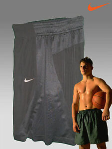 Nike Laser Cut Heat Sealed Fit-Dry Long Gym Fitness Shorts Black Medium
