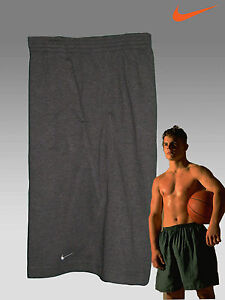 Nike Fit-Dry Fleece Gym Fitness Shorts Charcoal Grey XL