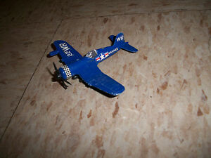 1980s die cast ww2 corsair fighter usmc missing