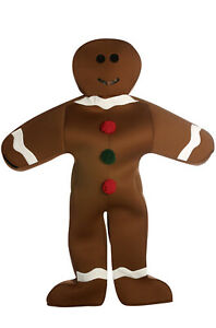 Brand New Gingerbread Man Christmas Cookie Adult Costume
