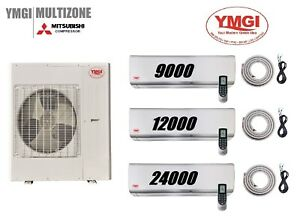 YMGI 45000 BTU 2 Zone Ductless Mini Split Air Conditioner Heat Pump 91224 COM