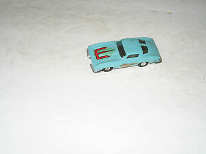 t jets ho scale 63 corvette slate aqua slot car