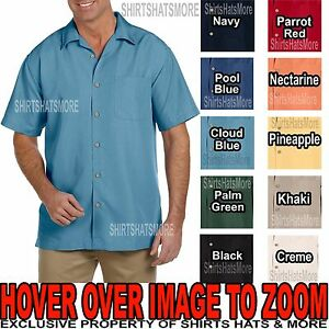 MENS Textured Camp Shirt WRINKLE RESISTANT Tropical Casual S-XL 2X,3X,4X,5X,6X