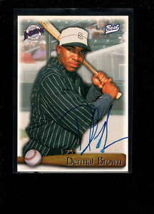 1998 BEST DERMAL BROWN AUTHENTIC ON CARD AUTOGRAPH SIGNATURE AX277
