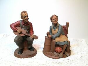 vtg tom clark gnome figurines wilkes playing