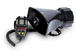 Zone Tech 80W 7 Tone Sound Car Police Siren Horn With Mic PA Speaker System $19.50