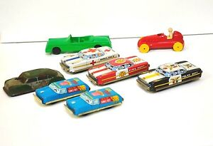 mixed lot of 8 toy vehicles tin plastic argo