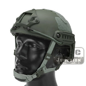 Emerson Tactical Fast Helmet MICH Ballistic Type Advanced w NVG Shroud + Rails