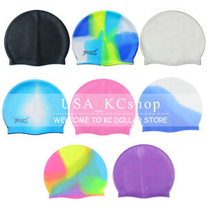 New Universal Adult Flexible Durable Silicone Elasticity Swim Cap Swimming Hat