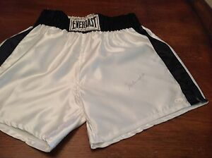 (SSG) MUHAMMAD ALI Signed Everlast Boxing Shorts with a JSA Full Letter COA
