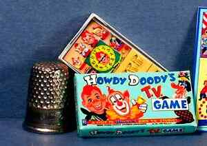 dollhouse miniature howdy doody tv game