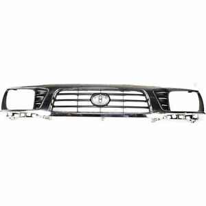New Grill Assembly Chrome Shell Black Insert For Toyota Tacoma 1995 1997