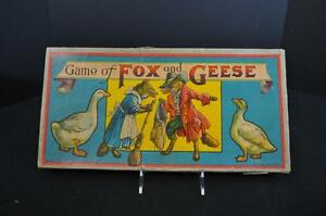 game of fox and geese bros 1900 era
