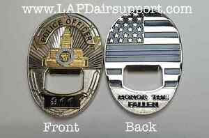 Los Angeles Police Department LAPD Thin Blue Line Bottle Opener Challenge Coin $15.95
