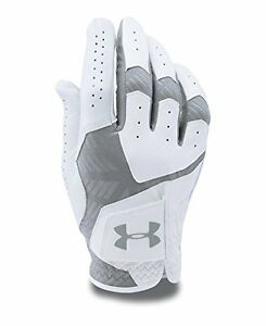 Mens Under Armour CoolSwitch Golf Glove White 102 Left MediumLarge