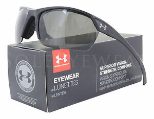 NEW Under Armour Zone 2 Satin Black  Gray 8600050-010100 Sunglasses