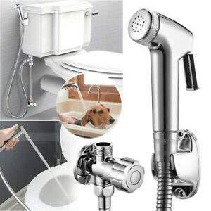Bidet Toilet Sprayer Set-Handheld Kit-Bathroom Hand Shower Self Clean Stainless