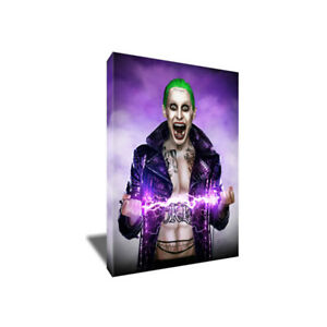 JARED LETO JOKER Canvas Suicide Squad Poster Photo Painting on CANVAS Wall Art
