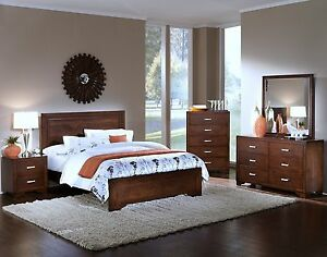 Casual Design Western King Size Bed Tobacco Bedroom Furniture Solids Wood Frame