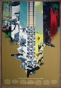 The Military Forces of the Galactic Empire print gold by Kevin Tong numbered