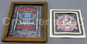 Jack Daniel#x27;s Old Time No. 7 Quality Whiskey amp; CSA Confederate Skull Picture