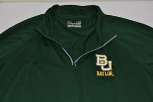 UNDER ARMOUR BU BAYLOR WARM UP HALF ZIP DRY FIT SHIRT MENS SIZE LARGE L