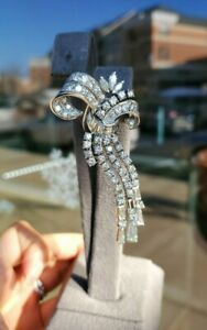 Platinum Diamond Brooch 7.11ct