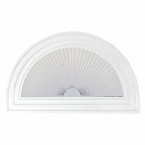 1 Arch Linen Look Pleated Shades 4 Colors