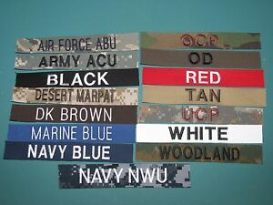 Military Name Tapes Custom Design Army Paintball Marine Civil Air Patrol Crafts $1.75