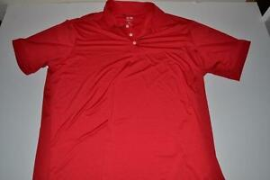 ADIDAS GOLF RED DRY FIT POLO SHIRT MENS SIZE 2XL XXL