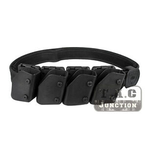 IPSC USPSA IDPA Competition High Speed Shooting Belt w 4x Pistol Magazine Pouch