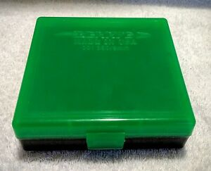 BERRYS .380  9mm PISTOL HINGED TOP GREENBLACK AMMUNITION CASE 100 RD #001 IPSC