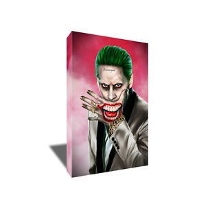 Suicide Squad Joker Canvas JARED LETO Poster Photo Painting on CANVAS Wall Art