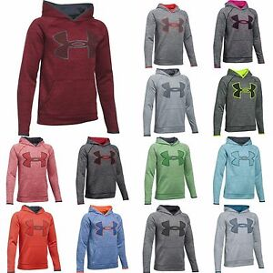 Under Armour Boys' Storm Armour® Fleece Twist Print Highlight Big Logo 13 colors