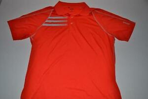 ADIDAS GOLF ADIZERO RED DRY FIT POLO SHIRT MENS SIZE LARGE L