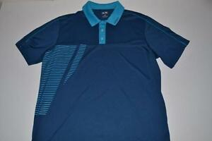 ADIDAS GOLF ADIZERO NAVY BLUE DRY FIT POLO SHIRT MENS SIZE LARGE L