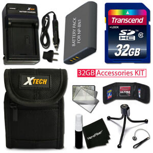 Xtech Accessory KIT for SONY WX220 - PRO w 32GB Memory +BtryChrgr +Cse +MORE