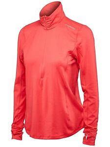 Brooks Women's Dash 12 Zip Poppy T-Shirt MD (Women's 8-10)