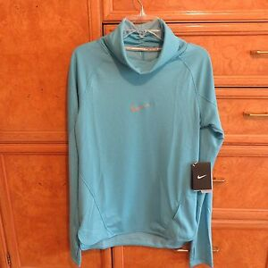 Women's Nike dri-fit running teal turtleneck long sleeve shirt sz S new NWT $110