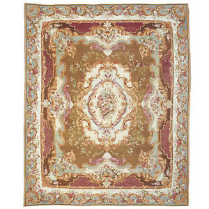 Large and Ornate 19th Century French Aubusson Carpet or Rug