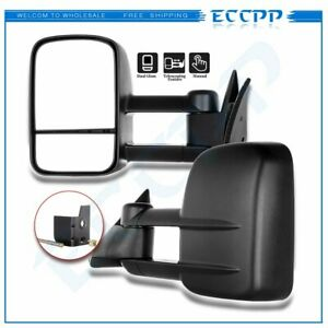 Tow Mirrors Manual Side Mirrors Telescoping For 1988 98 Chevy GMC C K 1500 2500 $74.99