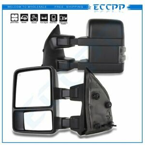 LEFTRIGHT For 1999 07 Ford F250 F350 F450 PowerHeatedSmoke Signal Tow Mirrors $135.99