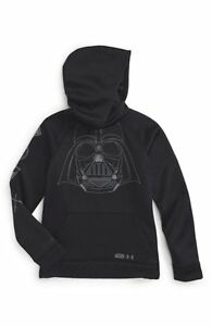 UNDER ARMOUR Boys STAR WARS darth vader Black HOODIE hooded sweatshirt  M L XL