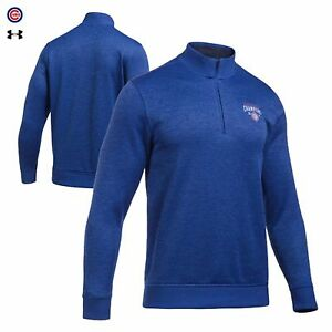 Chicago Cubs 2106 World Series Under Armour 14 Jacket Shirt Men's Fleece NWT