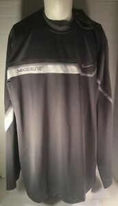 NIKE ELITE Sphere Dry Fit NEW WITH TAGS Long Sleeve Basketball ShirtGray Size L
