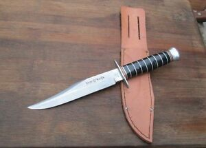 Vintage PIC Solingen Germany Sheriff Bowie Knife wStacked Handle RAZOR SHARP
