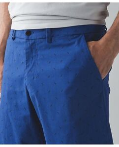 Lululemon The Works Short Rugged Blue Black Golf Casual ROPO Shorts M L 34 NEW